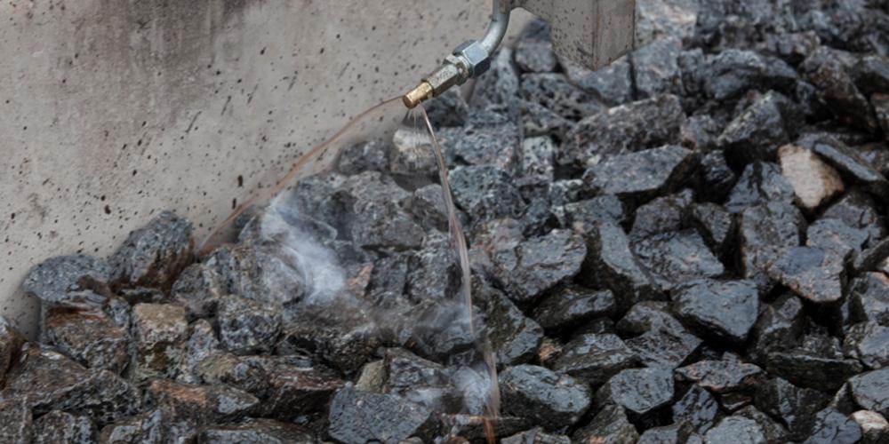 Schotterstabilisierung Terrasystem